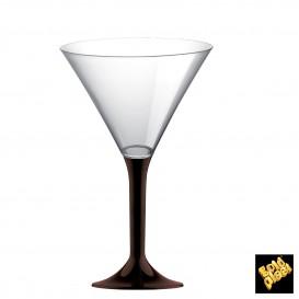 Flûte en Plastique Cocktail Pied Marron185ml (200 Unités)