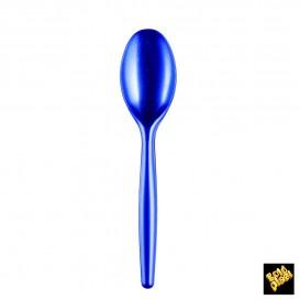 Cuillère Plastique Easy PS Bleu Perle 185mm (20 Unités)