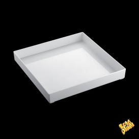 Plat Tray Blanc 30x30cm (9 Utés)