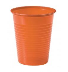 Gobelet Plastique Orange PS 200ml (50 Unités)