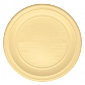 Assiette Plastique PS Plate Crème Ø220mm (780 Unités)