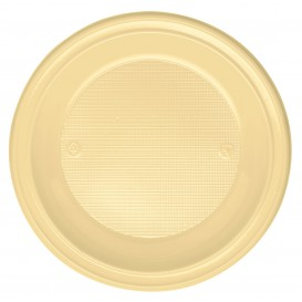 Assiette Plastique PS Creuse Crème Ø220mm (30 Unités)