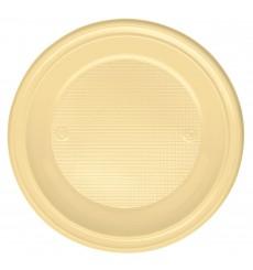 Assiette Plastique Plate Creme PS 220mm (30 Unités)