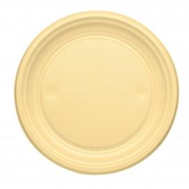 Assiette Plastique PS Plate Crème Ø170mm (50 Unités)