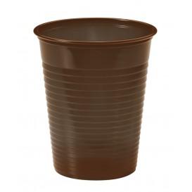 Gobelet Plastique PS Chocolat 200ml Ø7cm (50 Unités)