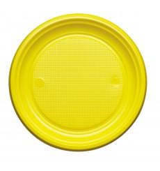 Assiette Plastique Plate Bleu Foncé PS 220mm (780 Unités)