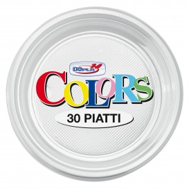 Assiette Plastique PS Plate Transparent Ø220mm (780 Unités)