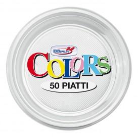 Assiette Plastique PS Plate Transparent Ø170mm (1100 Unités)