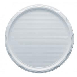Assiette Plastique PS à Pizza Blanche 320mm (100 Unités)