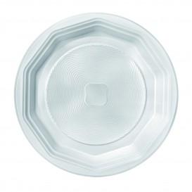 """Assiette Plastique PP Blanche Creuse """"Deka"""" 220mm (400 Unités)"""
