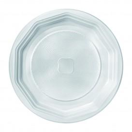 """Assiette Plastique PP Plate Blanche """"Deka"""" 220 mm (100 Unités)"""