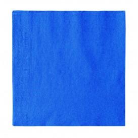 Serviette Papier 2 épaisseurs Bleu Foncé 33x33cm (50 Unités)