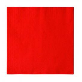 Serviette Papier 2 épaisseurs Rouge 33x33cm (1200 Unités)