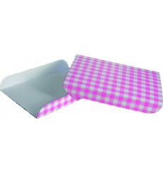 Bandeja carton Rosa soporte GOFFRE (Paquete 25 unidades)