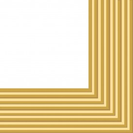 Serviette Papier 2 épaisseurs Or 33x33cm (20 Unités)