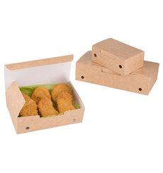 Boîte pour repas à emporter Moyen Kraft 145x90x45mm (25 Utés)