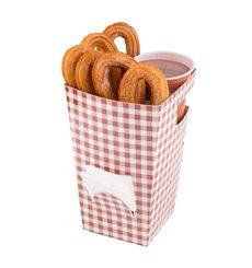 Boîte Carton pour Churros avec Chocolat 78x78x179mm (20 Uds)