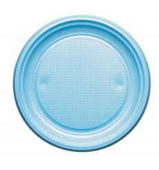 Assiette Plastique PS Plate Bleu Clair Ø220mm (30 Unités)
