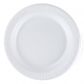 """Assiette Thermique FOAM """"Quiet Classic"""" Stratifié Blanc Ø230mm (125 Unités)"""