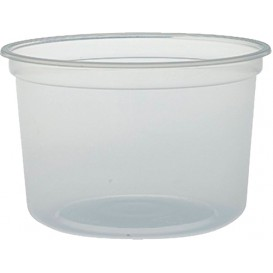 """Récipient en Plastique PP """"Deli"""" 16Oz/473ml Transp. Ø120mm (25 Unités)"""