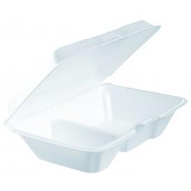 Boîte en FOAM LunchBox 2 C. Blanc 230x160mm (100 Utes)