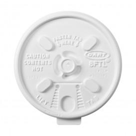 """Couvercle plastique PS """"Lift n' Lock"""" avec Rabat Blanc Ø8,1cm (100 Unités)"""