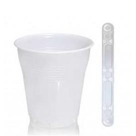 Pack Gobelet Vending Blanc 160ml et touillette transparente 90mm