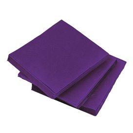 Serviette en Papier Micro Point 20x20cm Violet (100 Utés)