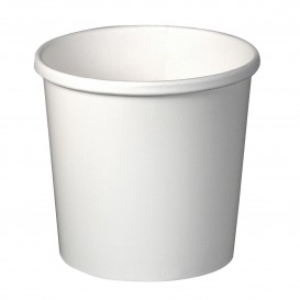 Pot en Carton Blanc 12Oz/355ml Ø9,1cm (500 Utés)