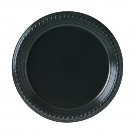 Assiette Plastique Party PS Plate Noir Ø230mm (25 Unités)