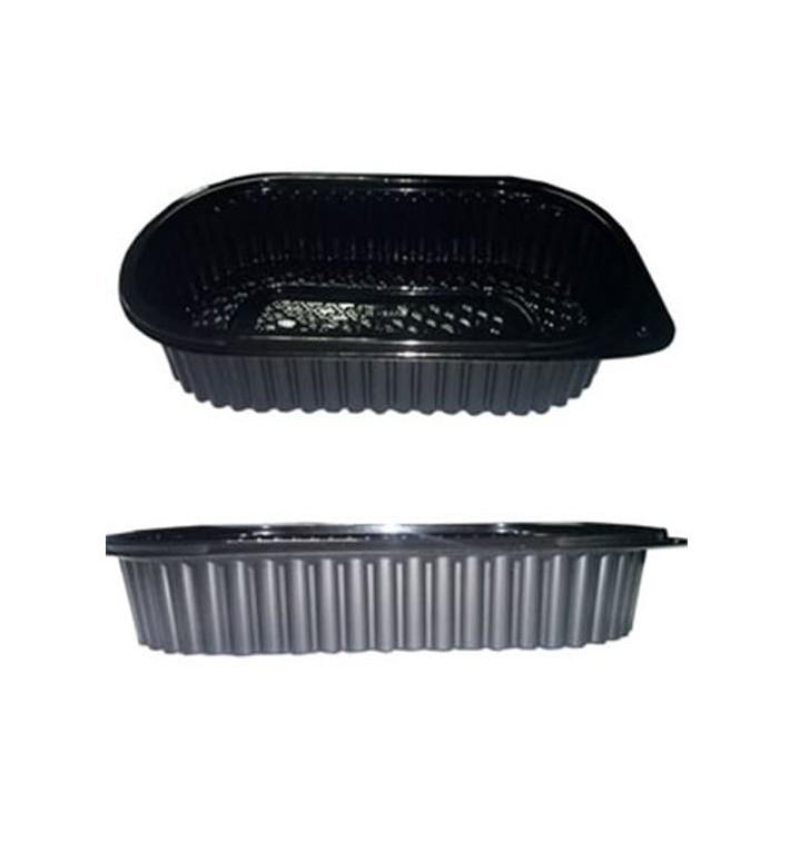 Barquette Plastique Noire PP 1000ml (100 Unités)