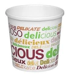 Pot en Carton Dessin Delicious 26 Oz Soupe et Glace (500 Unités)