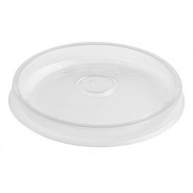 Couvercle Plat en Plastique PP Translucide Ø9,1cm (50 Utés)