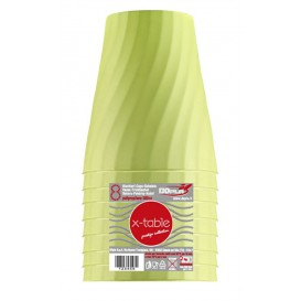 "Gobelet Plastique PP ""X-Table"" Citron vert 320ml (8 Utés)"