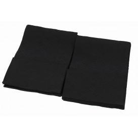 Serviette en Papier SNACK Noir17x17cm (160 Unités)