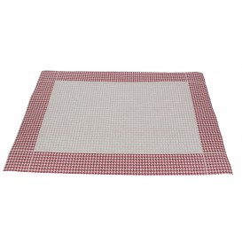 "Set de Table 30x40 ""Patte d'Oie"" Bord. 50g (2500 Utés)"