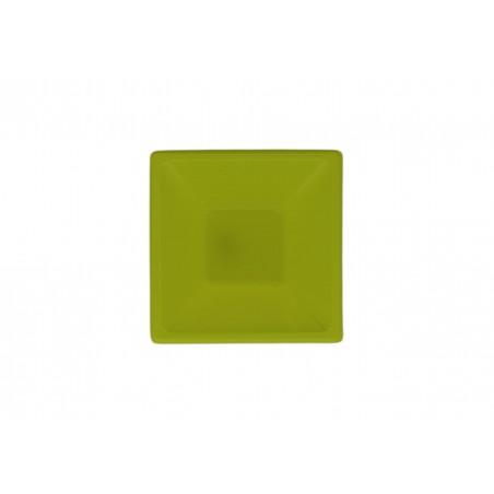 Bol carré en plastique Pistache 120x120x40mm (720 Utés)