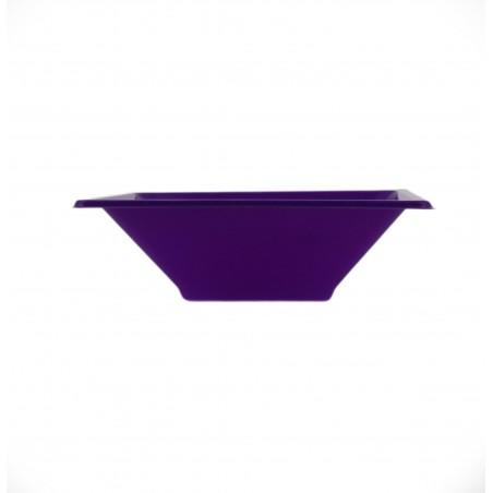 Bol carré en plastique Lilas 120x120x40mm (12 Utés)