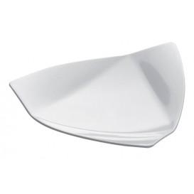"""Assiette Dégustation """"Voile"""" Blanc 8,5x8,5 cm (500 Utés)"""