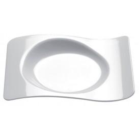 """Assiette Dégustation """"Forma"""" Blanc 80x66mm (50 Utés)"""