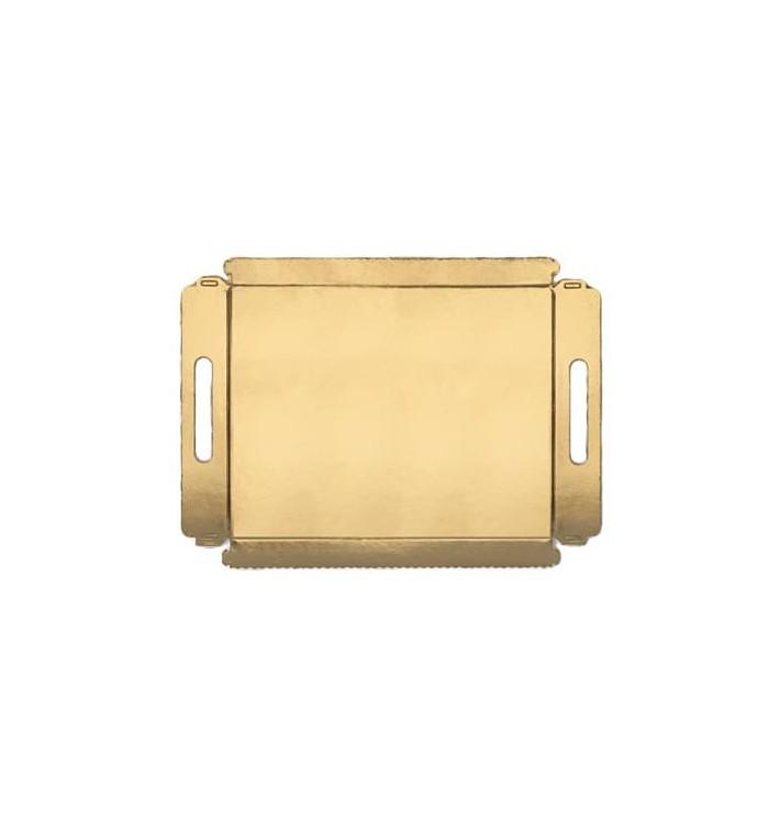 Plateau carton avec poignées metallisées 16x23cm (5 Utés)