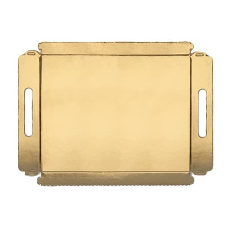 Bandeja Carton con Asas Metalizada 22x28cm (5 Unidades)