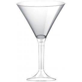 Flûte Plastique Cocktail Pied Transparent 185ml (20 Utés)