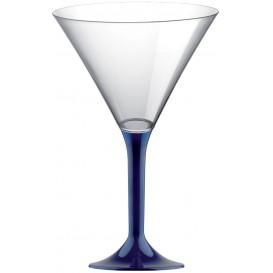 Flûte en Plastique Cocktail Pied Bleu 185ml (200 Unités)