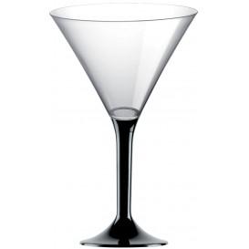 Flûte en Plastique Cocktail Noir 185ml (20 Unités)
