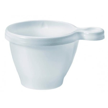 Tasse Plastique PS  Blanche 80ml (50 Unités)