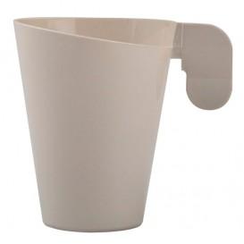 Tasse Plastique Design Crème 155ml (12 Unités)