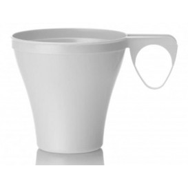 Tasse Plastique Dur Blanc 80ml (40 Unités)