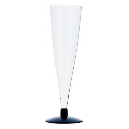 Flûte Jetable à Champagne Pied Noir 150ml (432 Unités)