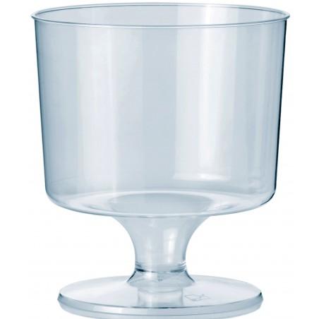 Verre à Pied en Plastique 170ml (10 Unités)